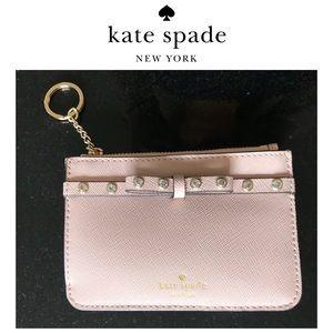 Kate Spade Bitsy Card Case Key Chain Ring Wallet